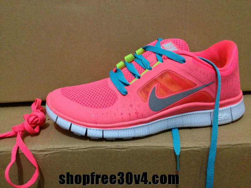 new arrival 57bc5 12015 Womens Nike Free Run 3 Hot Punch Reflective Silver Sol Volt Chlorine Blue  Lace Shoes - Click Image to Close