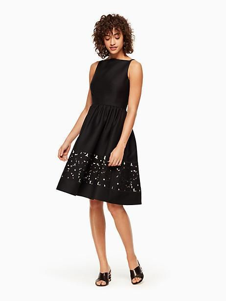 f4464bb5 Kate Spade Lace Panel Fit And Flare Dress, Black - Size 8 | Products ...