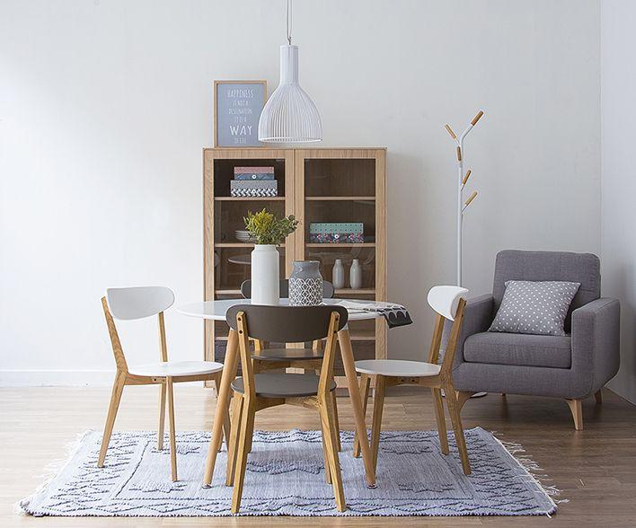 La mesa perfecta para una casa pequeña | comedor | Decoracion sala ...
