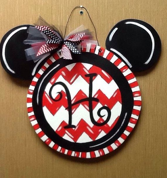 Personalized Wooden hand painted Mickey Mouse by ...