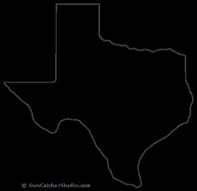 Texas Map Outline Printable State Shape Stencil Pattern Texas Outline Texas Map Map Outline