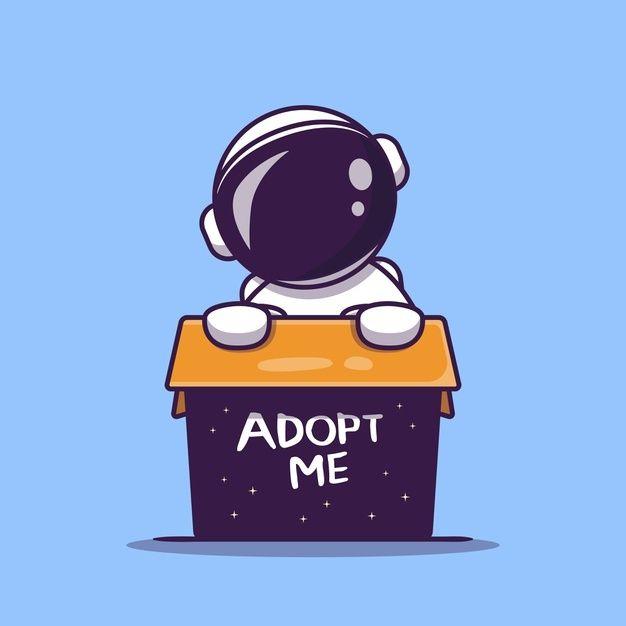 Download Cute Astronaut In Box Cartoon Icon Illustration