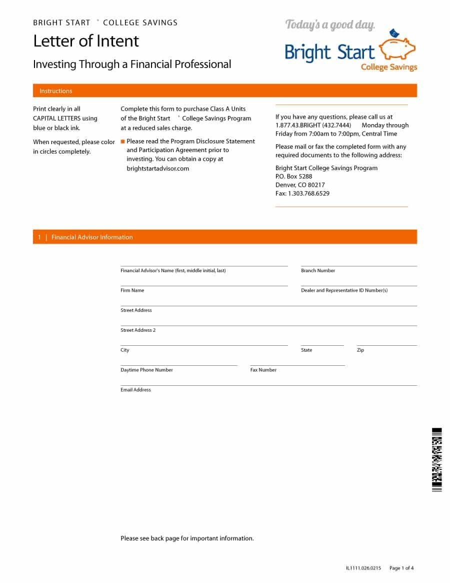 11 Letter Of Intent Templates Word Excel Pdf Templates