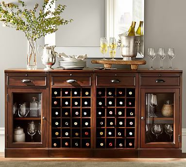 4 Piece Modular Bar Buffet 2 Wine Grid Bases Amp 2 Glass