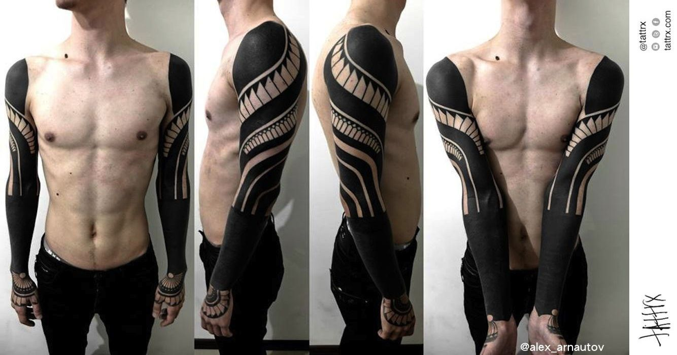 Blackout tattoos google search sleeve tattoos black