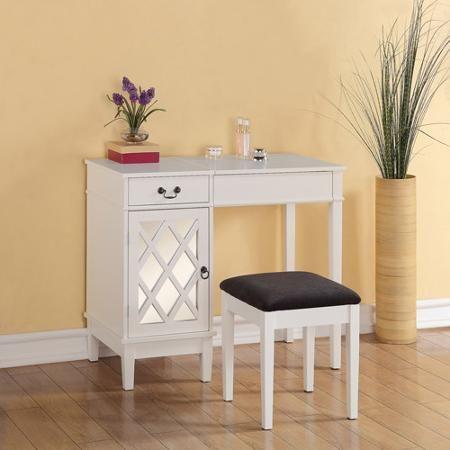 Linon Home Decor Lattice Vanity Set, Multiple Colors For ...