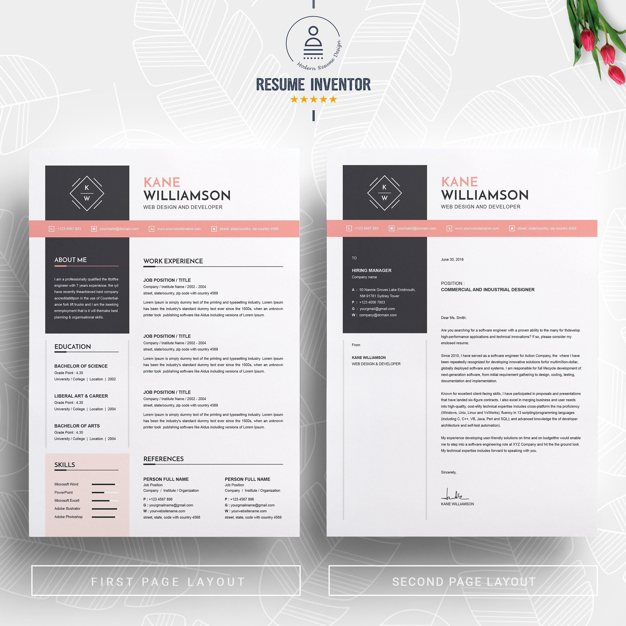 Professional Resume Cv Template Professional Resume Cv Template Resume Cv