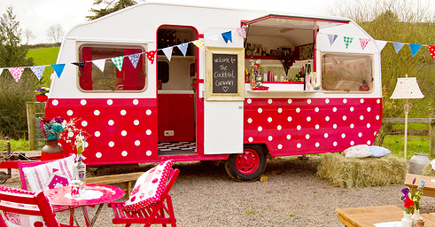 Next time you host a party, why not invite Norman? That's the off-duty name of the Cocktail Caravan, a mobile bar that will arrive at your venue and serve up bespoke cocktails. It was set up by Bee Watson and Kate Norman (and named after the latter), and the pair also arrange craft classes, mixing lessons and tea parties. They're Devon-based but travel the UK.