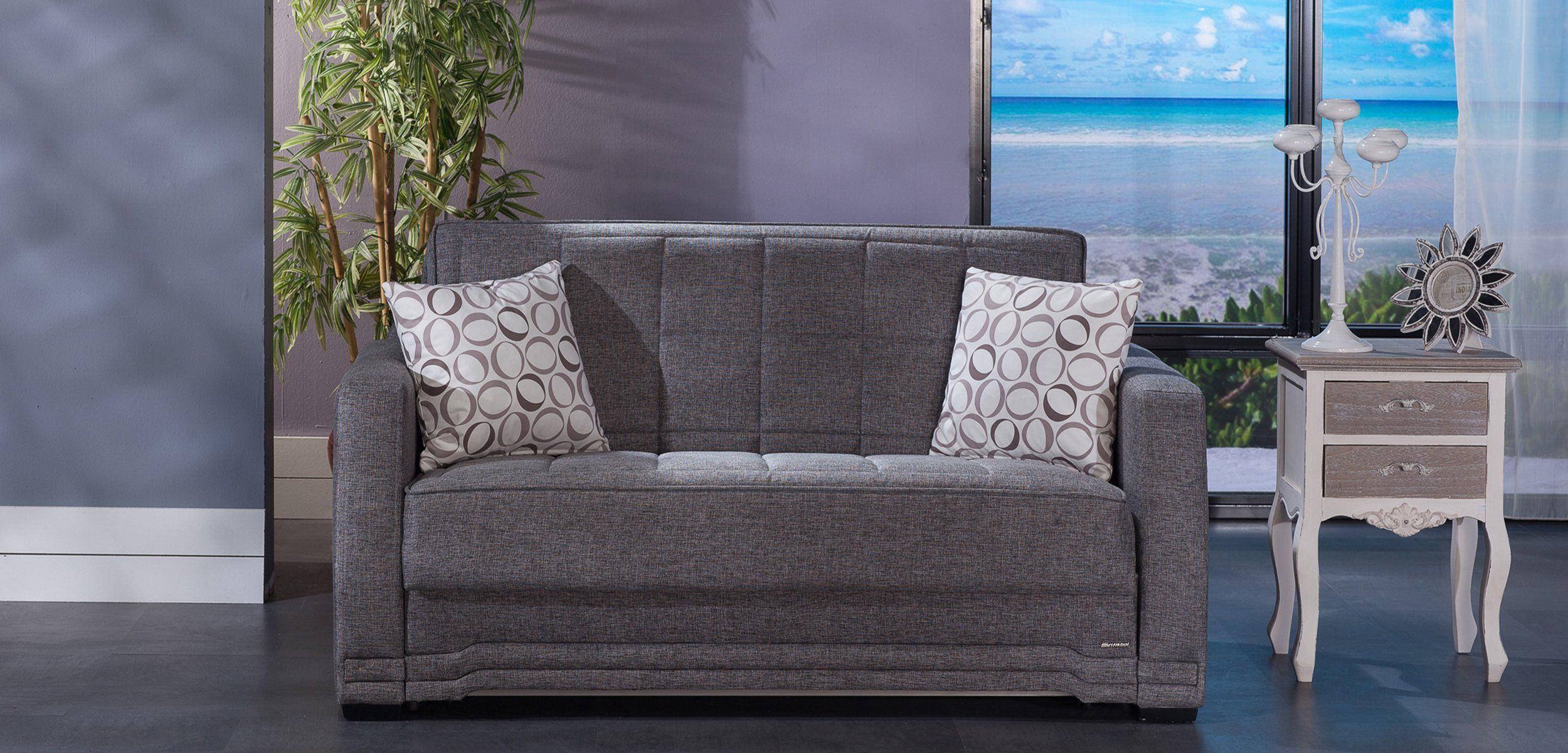 Miraculous Valerie Diego Gray Loveseat Sleeper By Istikbal Furniture Pabps2019 Chair Design Images Pabps2019Com