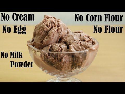 Creamy Chocolate Ice Cream Recipe Without Cream Egg No Flour Corn Flour No Chocolate Ice Cream Recipe Chocolate Ice Cream Homemade Chocolate Ice Cream