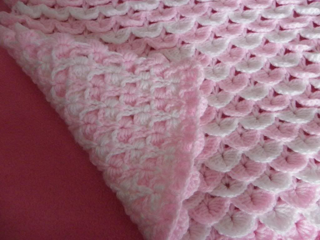 Crochet Baby Blanket Patterns Popcorn Stitch : Baby reborn cot pram cover blanket crochet pattern (2 ...