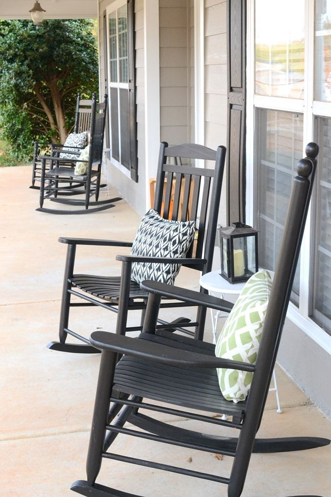 Elegant A Rocking Chair Front Porch