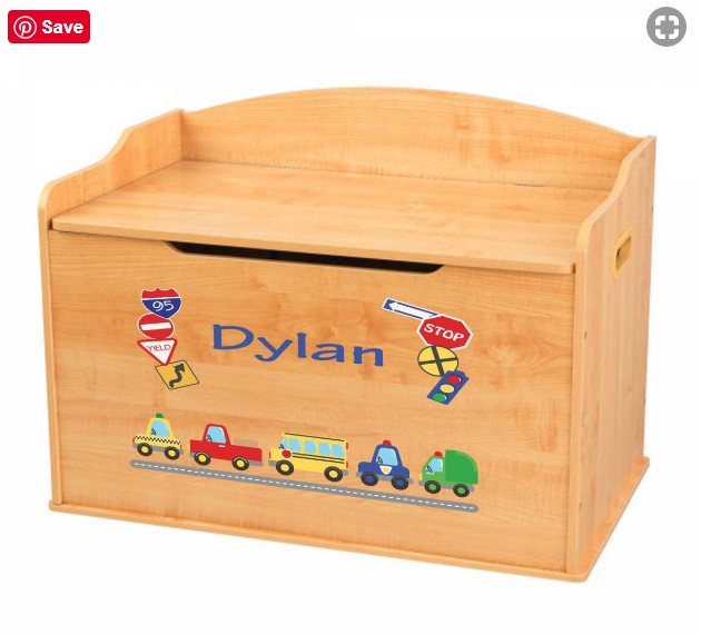 Personalized Toy Boxes Babywonderland Com Babywonderland Toyboxes Toyboxes Nursery Nurserydecor Nur Personalized Toys Personalised Toy Box Wood Toy Box