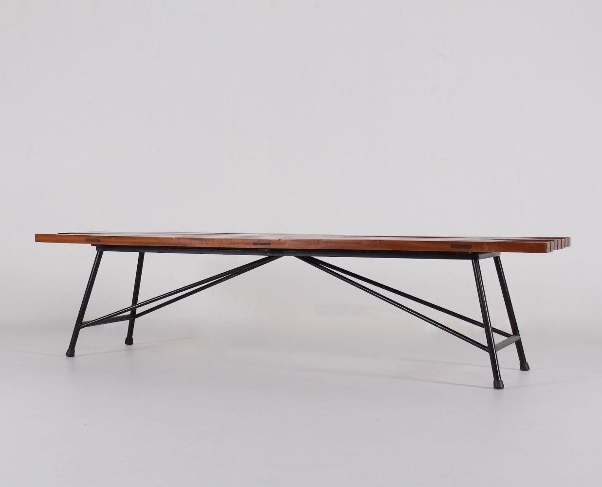 For Sale Modernist Bench By Alain Richard For Meubles Tv Modernist Folding Table Bench