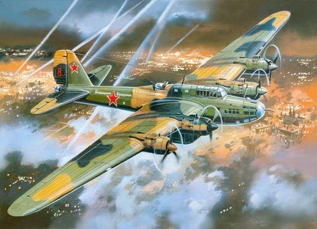 истории Истории : Пе-8: «Летающая крепость» Сталина (37 ...