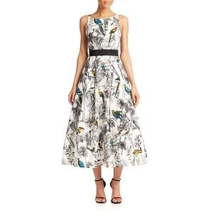 MILLY Serena Tropical-Print Dress