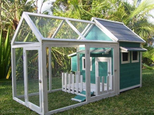Chicken chook rabbit cat hutch cage coop large new style for Awesome rabbit hutches