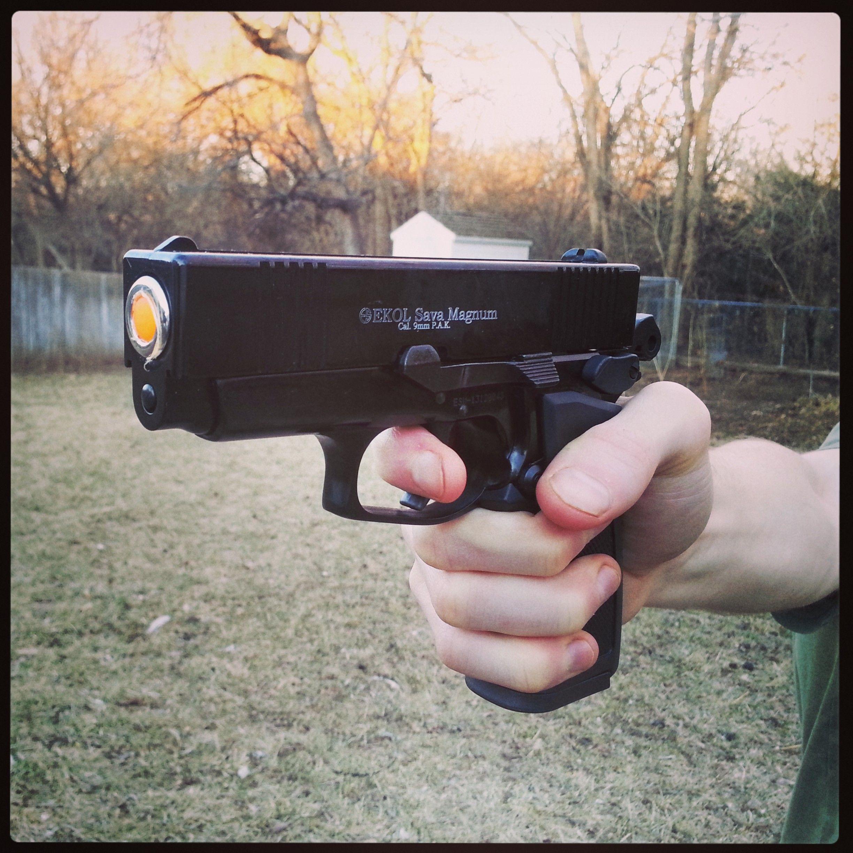Blank-firing Glock-style gun film prop  9mm semi-auto Ekol