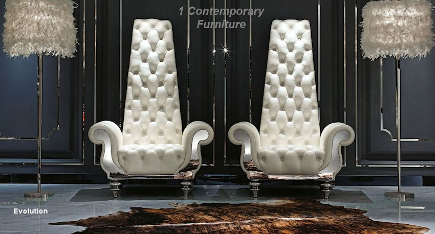 Superbe Contemporary High Back Chair