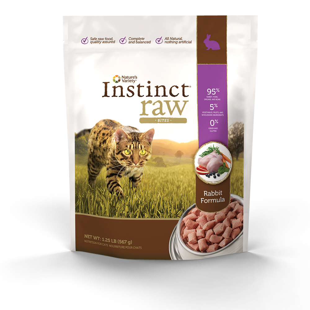 Instinct Raw Rabbit Formula provides complete and balanced
