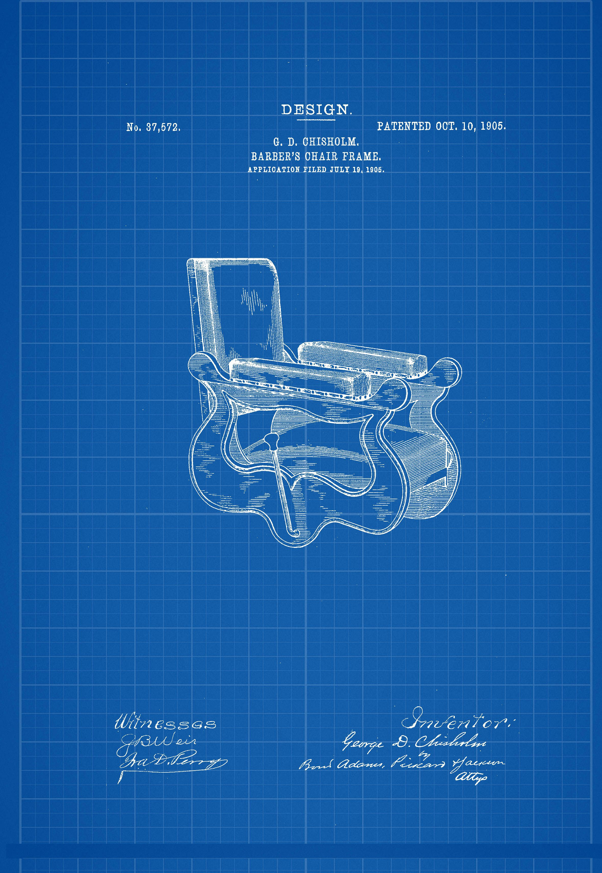 Barber chair 1905 blueprint patent poster print pinterest barber chair 1905 blueprint patent poster print barber chair 1905 blueprint patent poster print malvernweather Choice Image