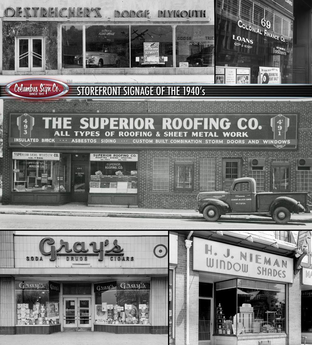 1940s Storefront Signage Storefront Signage Store