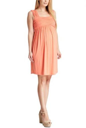 823b02ac15 Amazon.com  Momo Maternity Women s  Lily  Pleated Detail Dress  Clothing