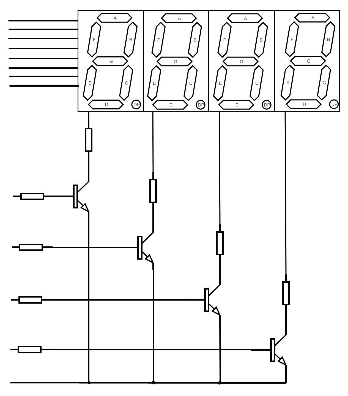 Arduino 4 Digit 7 Segment Led Display
