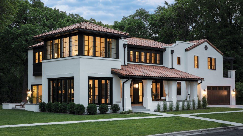 Detail Homes Brings The Mediterranean To St Paul Midwest Home Mediterranean Homes White Stucco House Spanish Style Homes