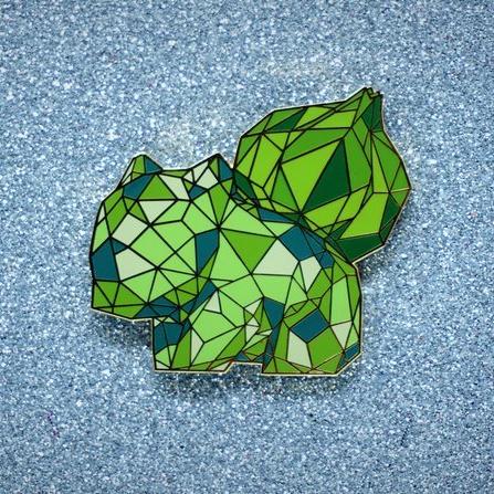 Geometric Starter Pokemon Pins made by kulturekraftwerks -