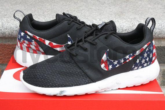 8f04c5bc46ca9 nike roshe run american flag pride custom