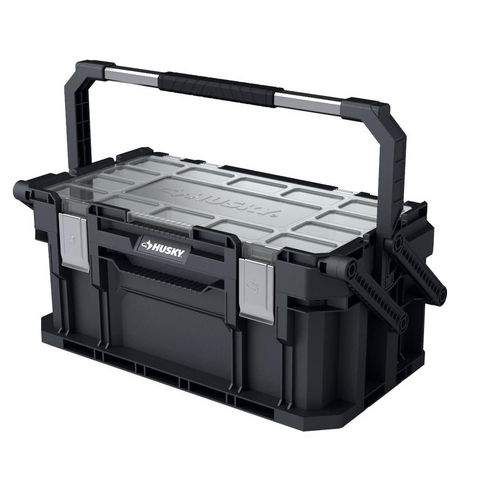 Husky 22 In Connect Cantilever Portable Tool Box 230378 The Home Depot Cantilever Tool Box Portable Tool Box Tool Box