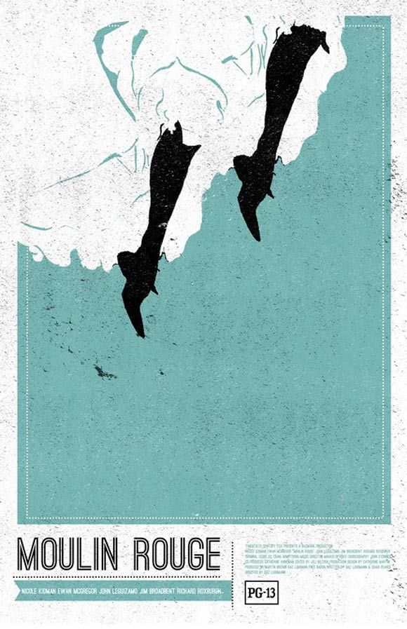 creative minimal poster of the Moulin Rouge film