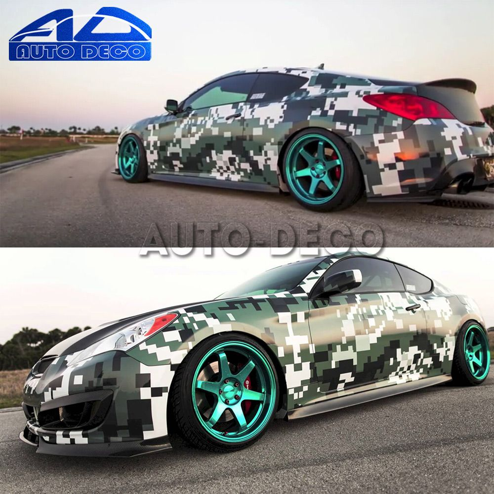 Automobiles & Motorcycles Car Stickers Lower Price with 1.52x30m Camouflage Carbon Fiber Wrap Car Wrapping Film