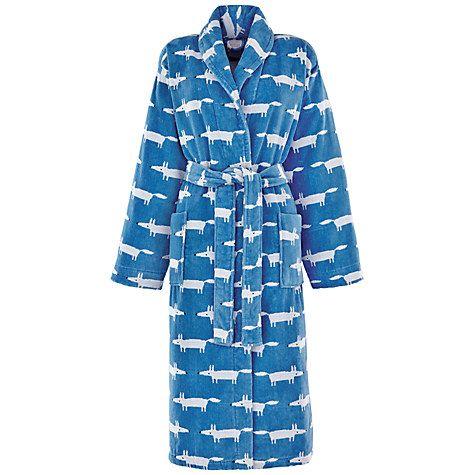 Buy Scion Mr Fox Bath Robe, Denim Online at johnlewis.com