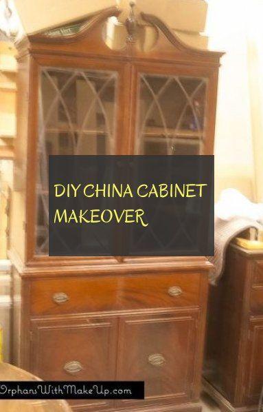 diy china cabinet makeover