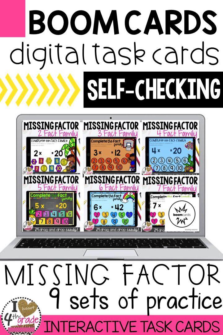 Missing Factor Multiplication Boom Cards | Multiplication practice ...