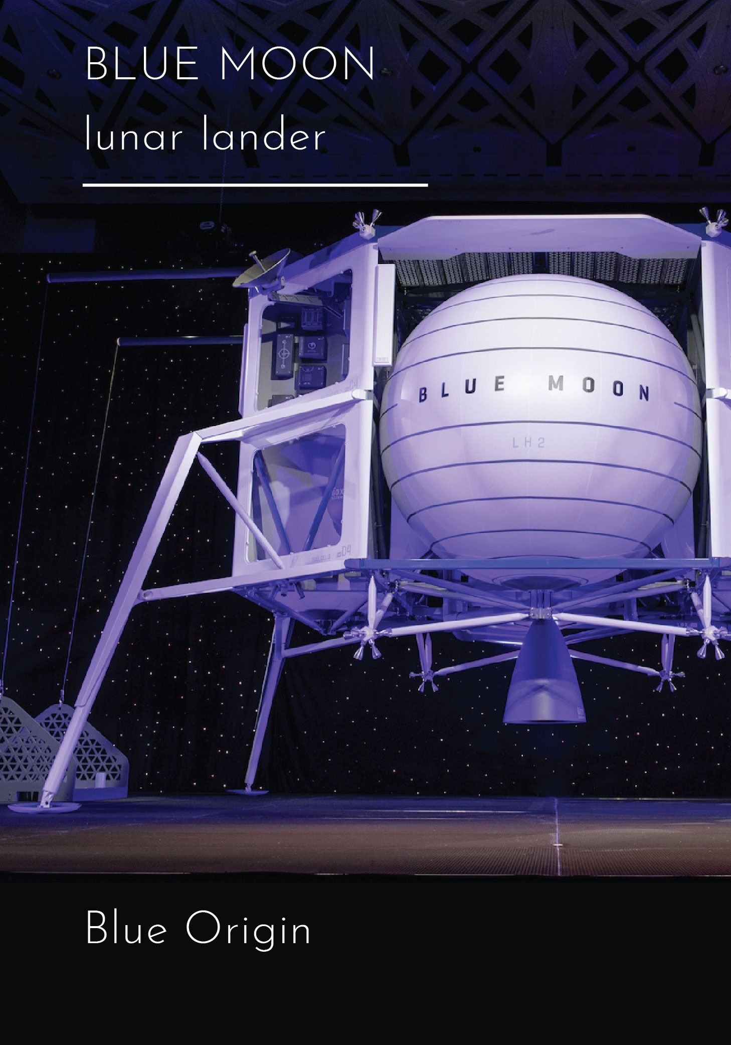 The Blue Moon Lunar Lander Is Capable Of Taking People And Payloads To The Lunar Surface Lunar Lander Blue Origin Blue Moon