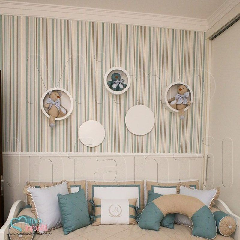 Papel de Paredes para decoração de quarto de bebê e infantil Bobinex Bambinos