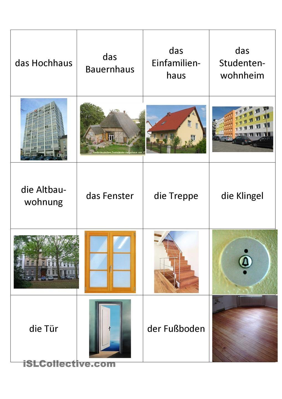 wortschatz zum thema wohnung german language pinterest wortschatz arbeitsbl tter und. Black Bedroom Furniture Sets. Home Design Ideas