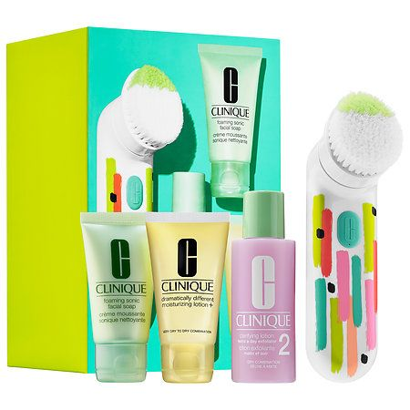 clean skin great skin sonic brush set for drier skin
