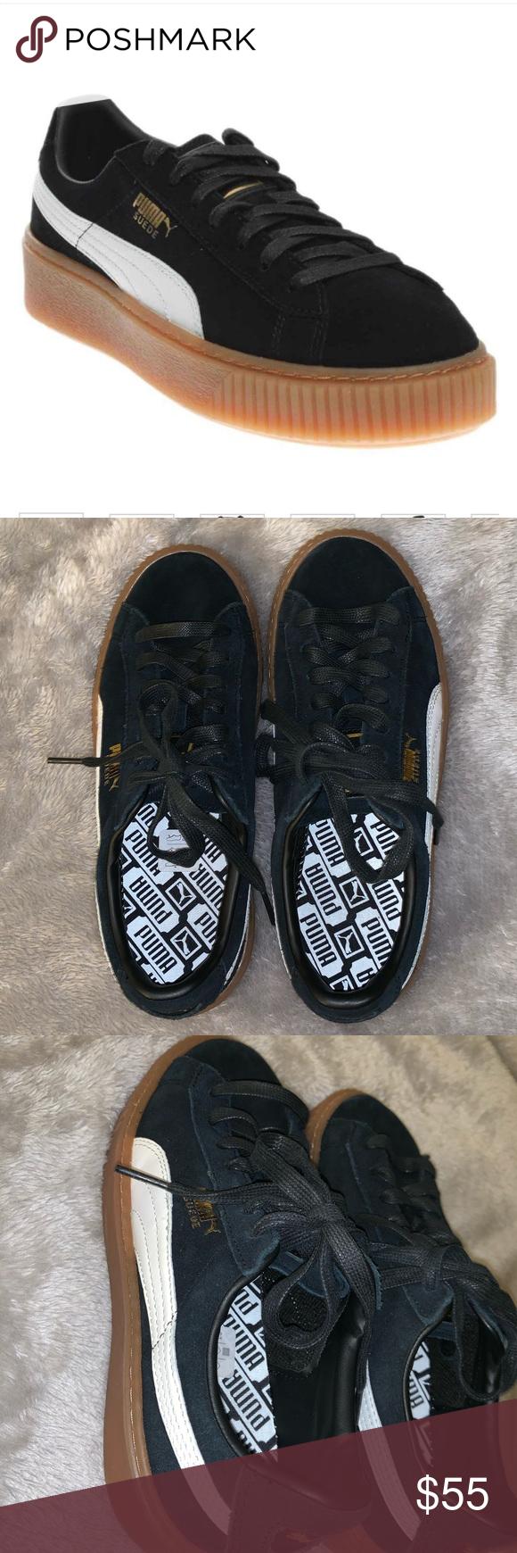 Puma basket case platform sneakers