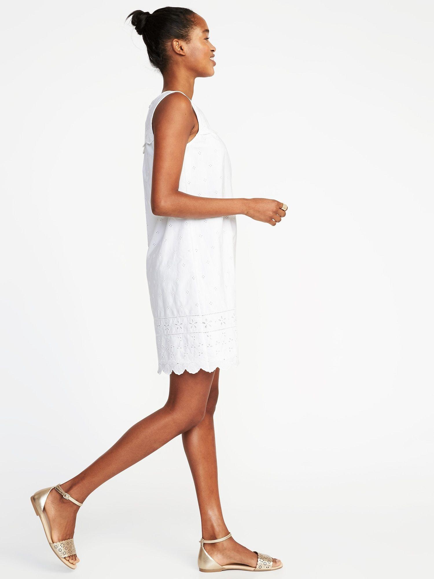Eyelet Shift Dress Shift Dress Fashion Dresses [ 2000 x 1500 Pixel ]