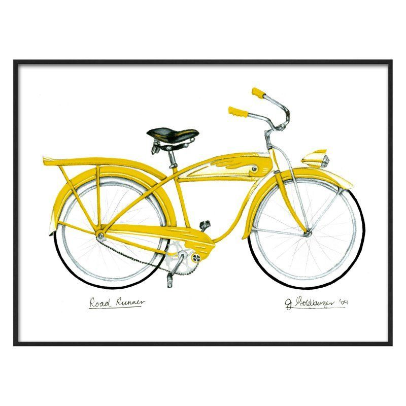 Art.com Yellow Roadrunner Wall Art - 14379468 | Products | Pinterest ...