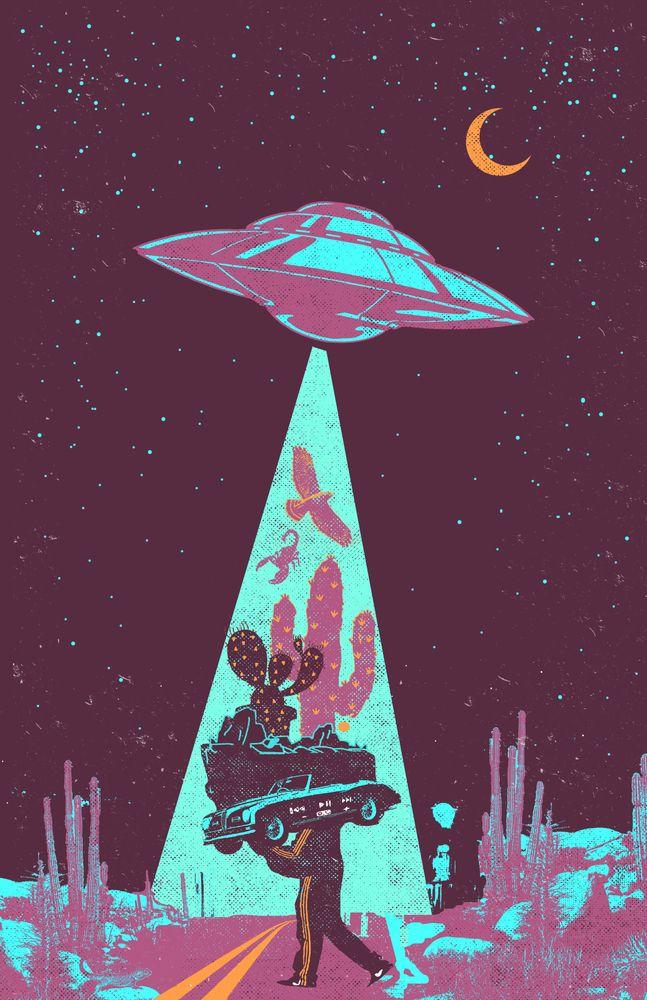 Photo of DESERT UFO Art Print