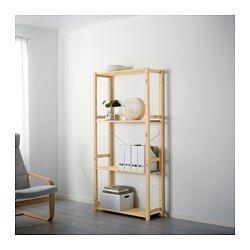 ivar shelving unit pine 407 s windomere pinterest rangement cave salle et cabanon. Black Bedroom Furniture Sets. Home Design Ideas