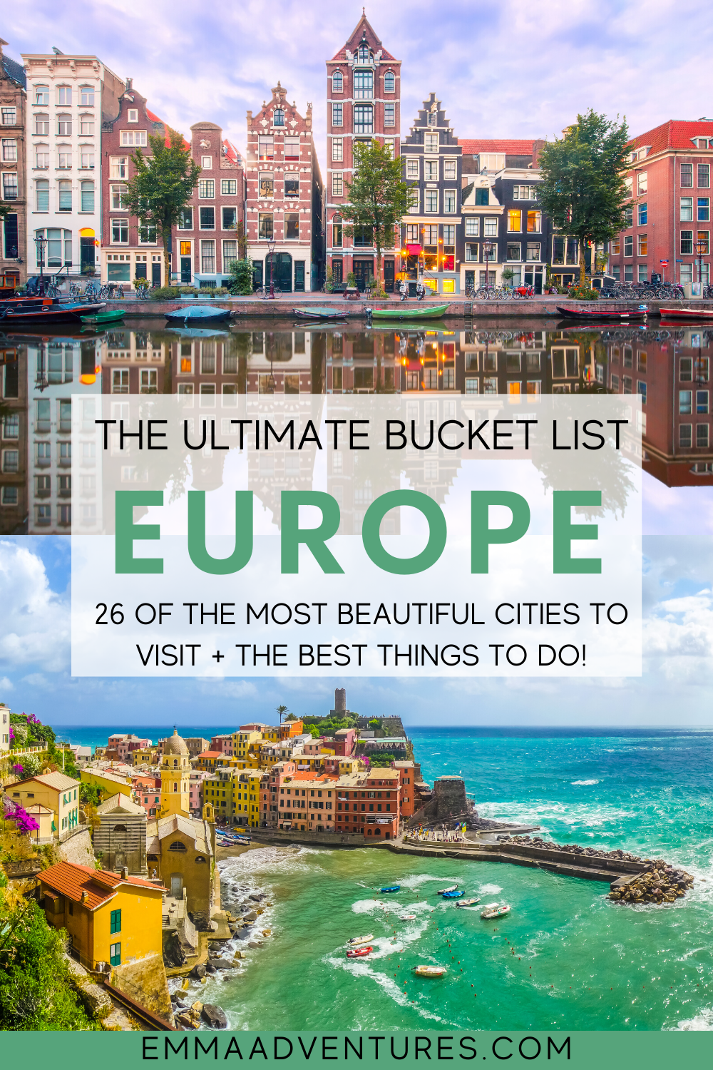 The most epic Europe travel bucket list! All of the best things to do and places to visit in Europe, with 26+ of the best cities to see in Europe! The ultimate Europe travel guide. Read it now! #europe #europebucketlist #europetravel