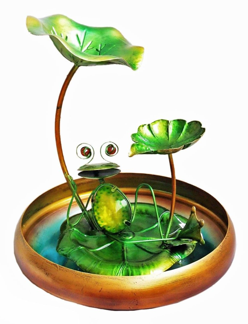 Frog Tabletop Fountain Tabletop fountain, Glass frog