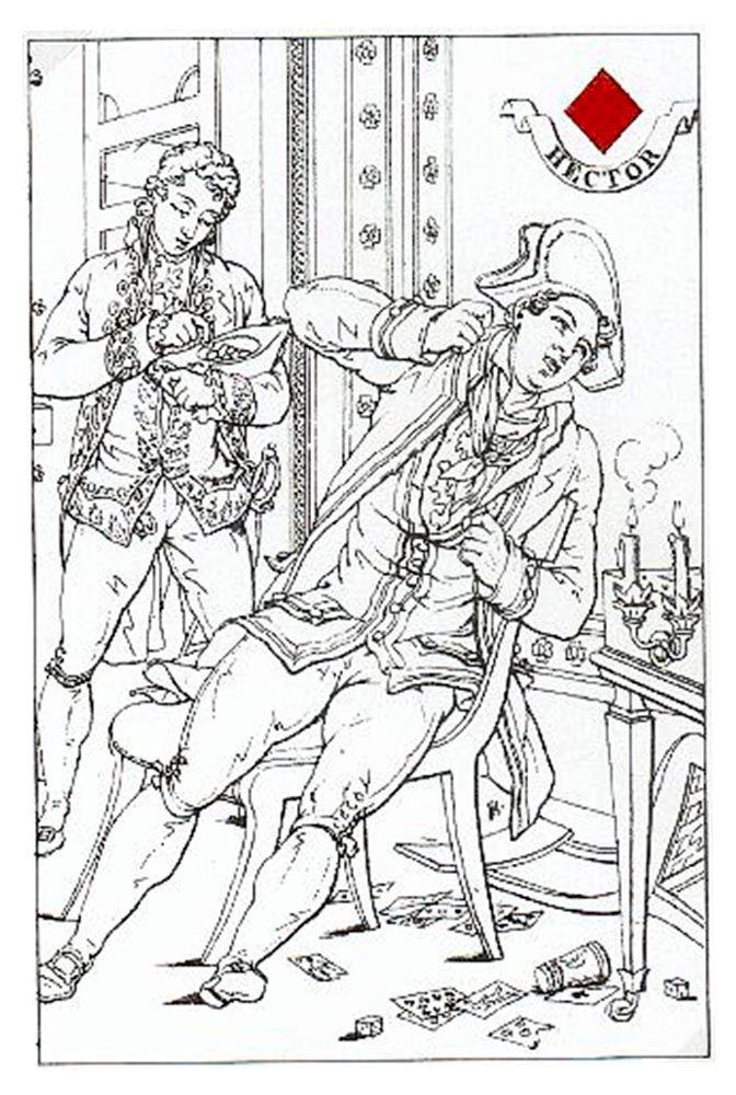 Ruiten Boer speelkaart Carta Mundi Louis Atthalin 1815