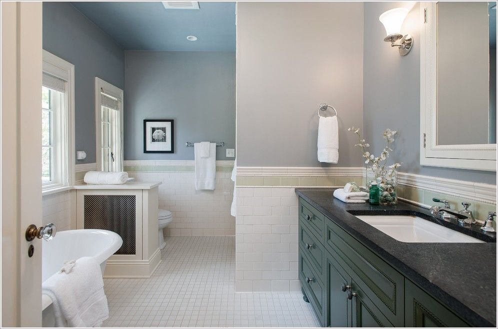 Tile wainscoting bathroom beadboard vs wainscoting - Bathroom remodel ideas with wainscoting ...
